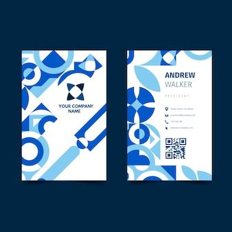 Carte de visite bleu classique abstrait