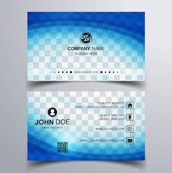 Carte de visite bleu ondulé