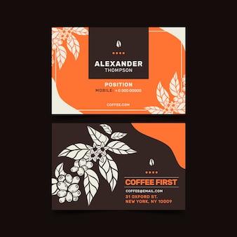 Carte de visite de café