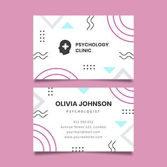 Carte de visite de clinique de psychologie