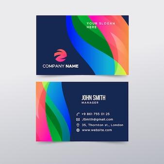 Carte de visite colorée abstraite
