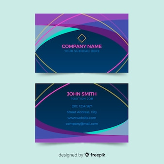 Carte de visite colorée dans un style abstrait