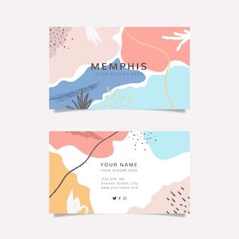 Carte de visite colorée avec des formes colorées