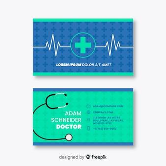 Carte de visite avec concept médical dans un style professionnel
