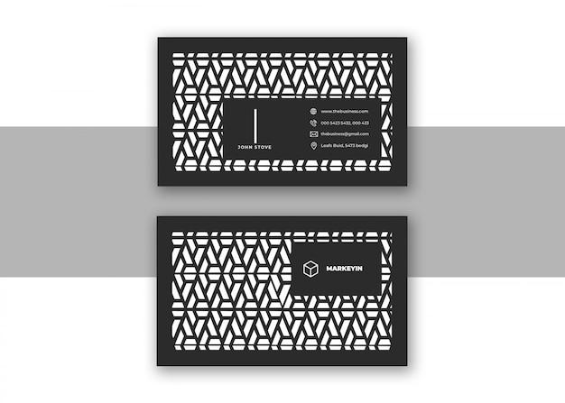 Carte de visite de conception d'entreprise de conception de vecteur coloré noir minimal pour l'impression