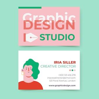 Carte de visite de conception graphique colorée créative