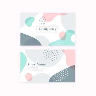 Carte de visite de couleur pastel minimaliste