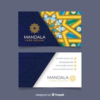 Carte de visite créative avec concept de mandala