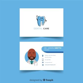 Carte de visite créative avec concept médical