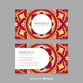 Carte de visite créative avec création de mandala