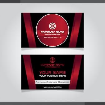 Carte de visite créative moderne rouge et carte de visite