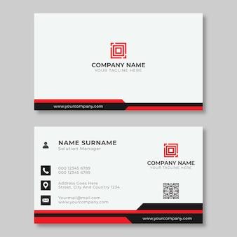 Carte de visite créative simple noir et rouge blanc