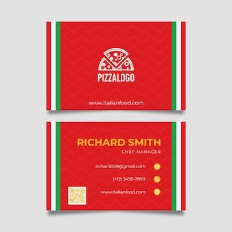 Carte de visite de cuisine italienne