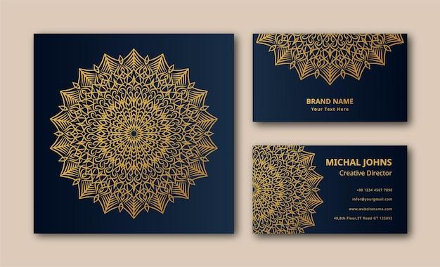 Carte De Visite Décoration Fond Mandala Vecteur Eps Vecteur Premium