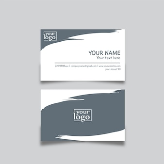 Carte de visite design abstrait bleu