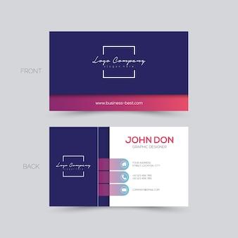 Carte de visite design élégant