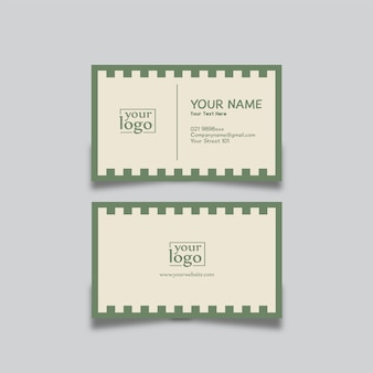 Carte de visite design résumé vert