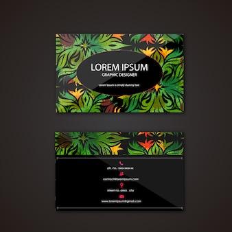 Carte de visite avec design tropical