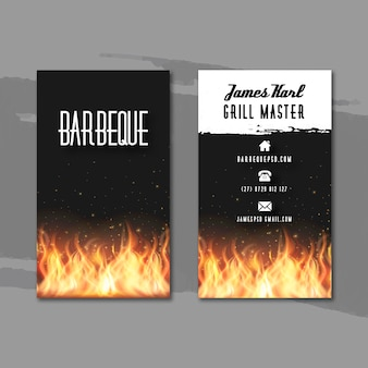 Carte de visite double face barbecue