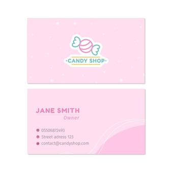 Carte de visite double face candy h