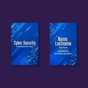 Carte de visite double face cybersécurité