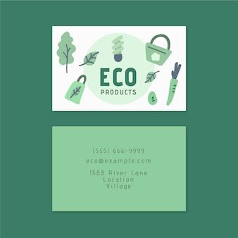 Carte de visite double face écologique