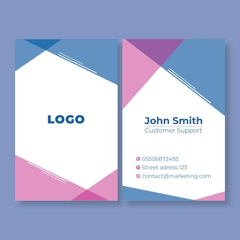 Carte de visite double face marketing business