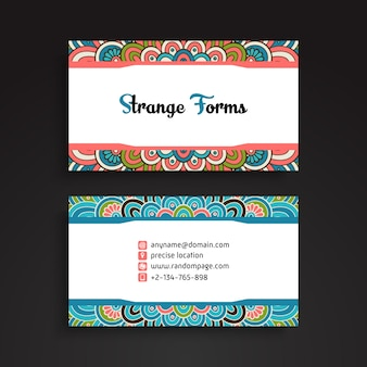 Carte de visite. éléments décoratifs vintage. cartes de visite florales ornementales ou invitation avec mandala