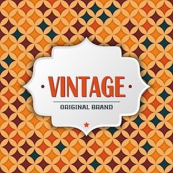 Carte de visite éléments décoratifs vintage fond dessiné à la main