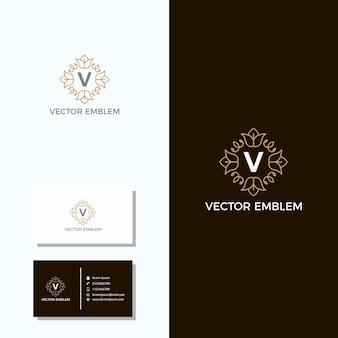 Carte de visite emblème