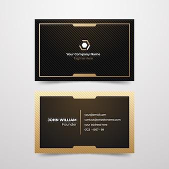 Carte de visite d'entreprise de conception minimale