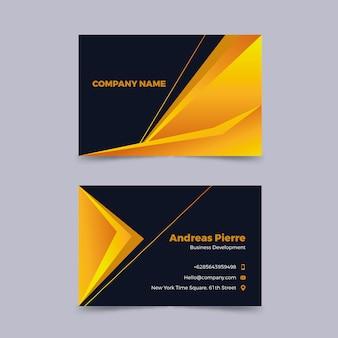 Carte de visite d'entreprise élégante