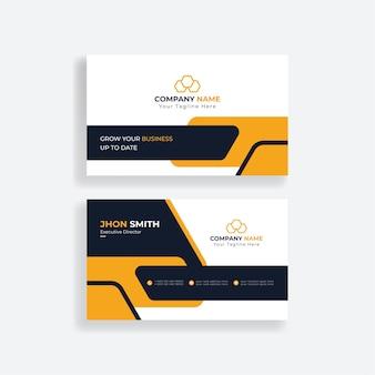 Carte de visite d'entreprise moderne ou carte de visite jaune d'entreprise