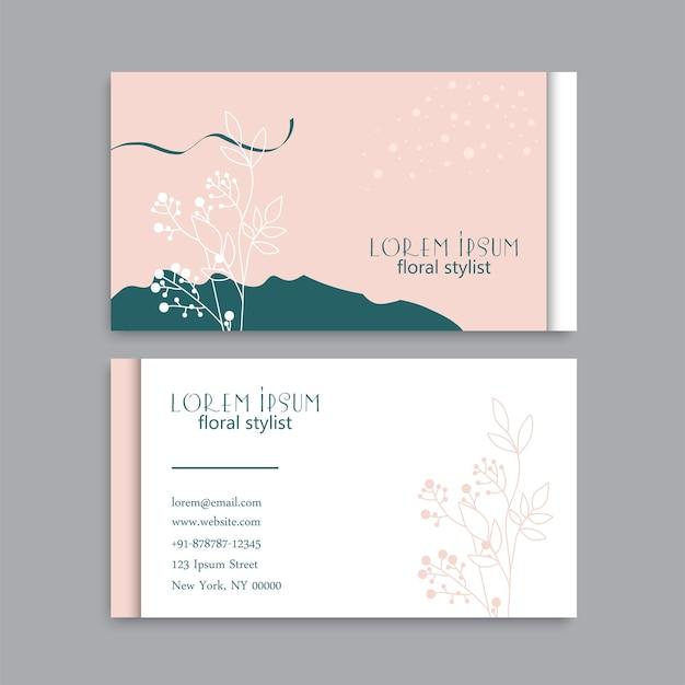 Carte de visite florale