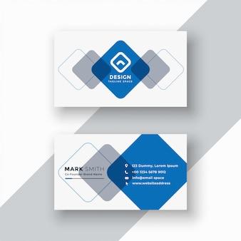 Carte de visite géométrique bleu minimal