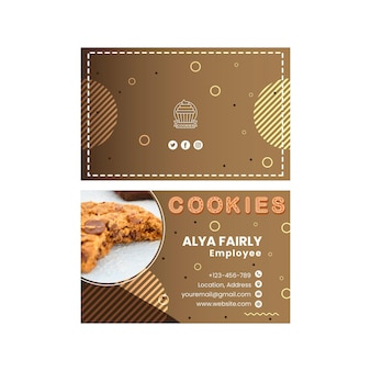 Carte de visite horizontale de cookies