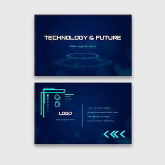 Carte de visite horizontale de technologie