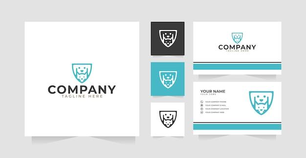 Carte de visite et inspiration de conception de logo de soins pour animaux de compagnie pour chats et chiens