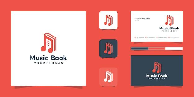 Carte de visite d'inspiration et de logo de musique de livre moderne