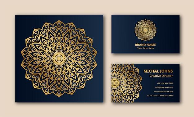 Carte de visite d'invitation de mariage avec eps de conception de mandala
