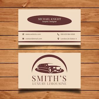 Carte de visite limousine