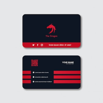 Carte de visite logo dragon