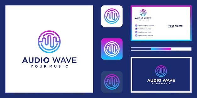 Carte de visite et logo de l'égaliseur de musique
