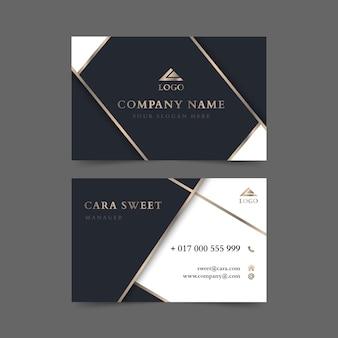 Carte de visite de luxe élégante