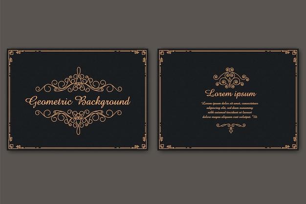 Carte de visite de luxe modèle élégant avec poussière d'or