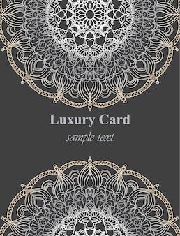 Carte de visite de luxe avec ornement dentelle