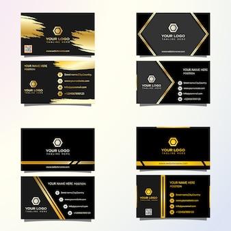 Carte de visite de luxe premium prête à imprimer