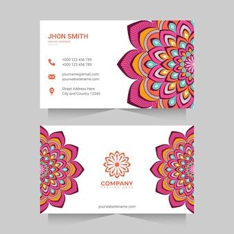 Carte de visite avec mandala coloré