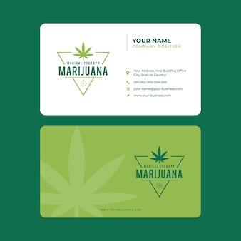 Carte de visite de marijuana