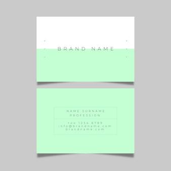 Carte de visite minimaliste coloré